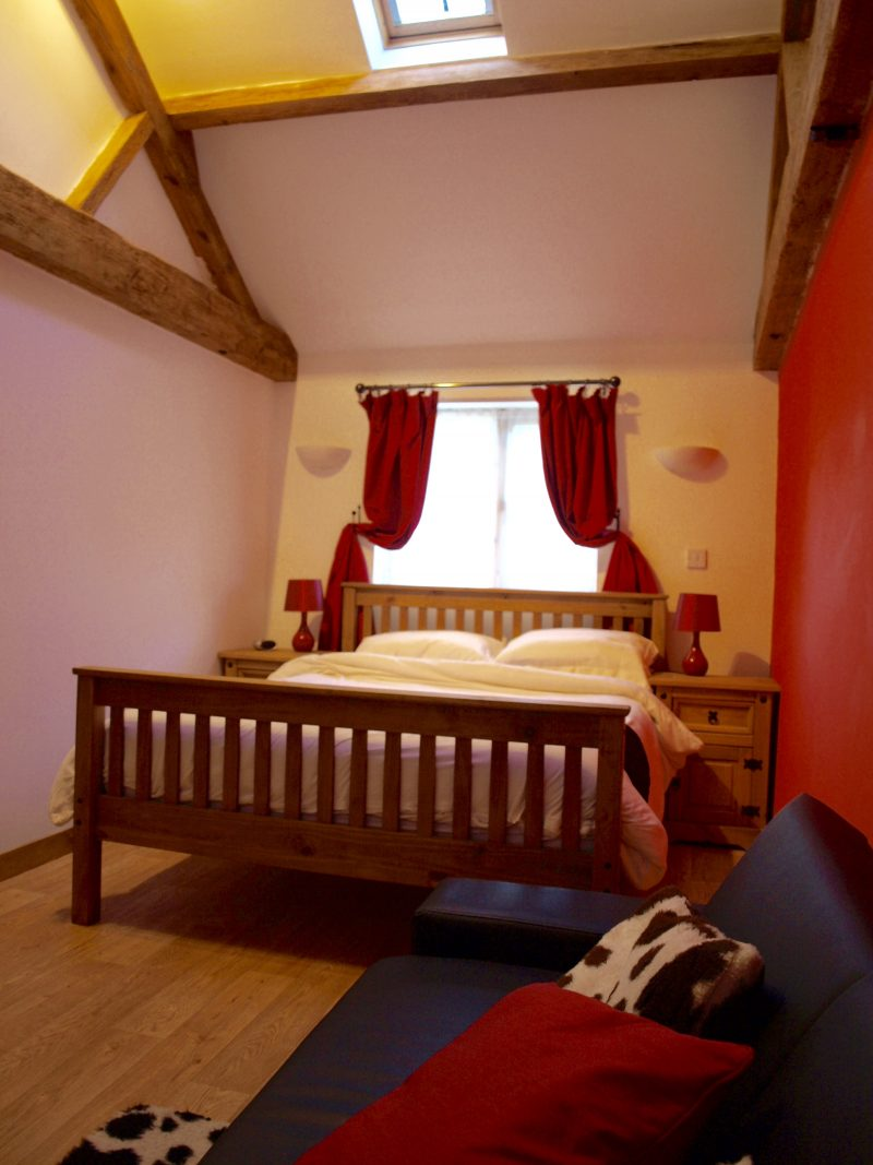 The Dairy - Bedroom with King bed